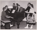 Students Gathered Around a Piano by Cedarville University