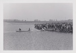 People Watching Two Canoes on Cedar Lake by Cedarville University