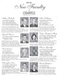 New Faculty, 2004-2005