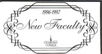 New Faculty, 1996-1997 by Cedarville College
