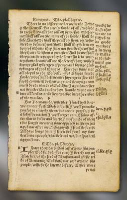 Tyndale New Testament Page