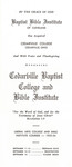 1953 Brochure by Cedarville College