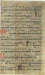 Manuscript Leaf from 14th Century German Antiphonal