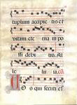 Manuscript Leaf from Antiphonal in Latin, circa 1550