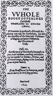 The Bay Psalm Book, 1640