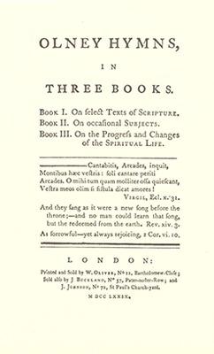 Olney Hymns, 1779