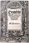 Martin Luther - Duetsche Messe 1526