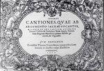 Cantiones quae ab argumento sacrae vocantur 1575