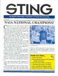 The Sting: Winter 2002 by Cedarville University