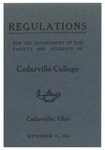 Regulations for the Government of the Faculty and Students of Cedarville College