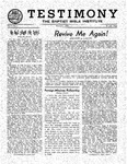 Testimony, March 1950
