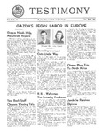 Testimony, January/February 1951