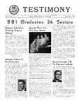 Testimony, May/June 1951
