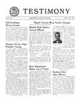 Testimony, September/October 1951
