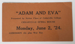 Adam and Eva Ticket by Cedarville College