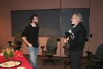 Adam Rex and Dr. Thomas Sweigard