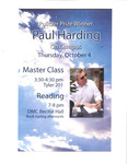 Master Class and Reading by Paul Harding