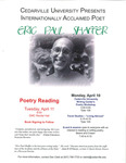 Eric Paul Shaffer: Poetry Reading by Cedarville University