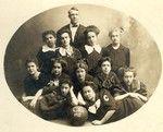1909-1910 Women's Basketball Team by Cedarville College