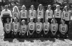 1999 Women's Cross Country Team by Cedarville College