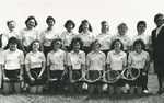 1987-1988 Women's Tennis Team by Cedarville College