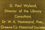 G. Paul Wyland, Director of the Library by Cedarville University